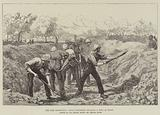 The Nile Expedition, Royal Engineers building a Fort at Korti
