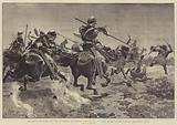 The War in the Soudan, the Fight at Hasheen, near Souakim, 20 March, the 5th Lancers charging …