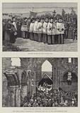 The Roman Catholic Pilgrimage to Lindisfarne, Holy Isle, on the Northumberland Coast