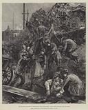 The Railway Disaster at Hexthorpe, near Doncaster, extricating the Dead and wounded