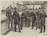 The French Squadron at Spithead, Admiral Lord Clanwilliam and Admiral Gervais meeting on Board the Fire Queen