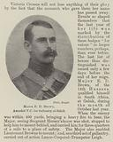 Major E D Brown, awarded VC for Gallantry at Geluk