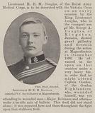 Lieutenant HEM Douglas, awarded VC for Gallantry at Magersfontein