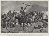 Colonial Valour in South Africa, Charge of the Bushmen and New Zealanders upon the Boer Guns …