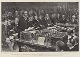 The Budget of 1901, Sir Michael Hicks Beach, Chancellor of the Exchequer, delivering his Annual …