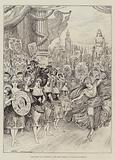 """Scene from the Pantomime of """"The Forty Thieves"""" at Drury-Lane Theatre"""