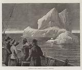 Icebergs in the Atlantic, sighting a Castaway