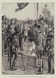 The Queen distributing Decorations to Wounded Officers and Soldiers from the Crimea, 21 May 1856
