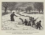 The Snow in Leicestershire, clearing the Road between Market Harborough and Kettering