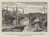 The Manchester Ship Canal, the Bridgewater Canal Aqueduct at Barton-upon-Irwell