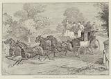 """To Brighton and back in Eight Hours by the """"Old Times"""" Coach, passing Cuckfield Park"""