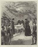 The Empress Frederick laying the Foundation-Stone of a Mausoleum for the late Emperor at Potsdam