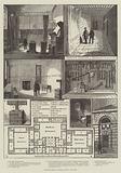 Newgate Prison, Interior Views and Plan