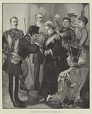 The Shah received by the Queen at Windsor Castle