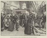 Patagonian Fur-Dealers on Board a British Ship at Sandy Point, Straits of Magellan