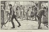 Dockers at Work, unloading a Cargo of Tea