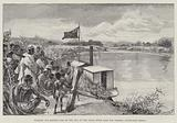 Hoisting the British Flag on the Ruo, up the Shire River from the Zambesi, South-East Africa
