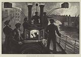 The London Fire Brigade, Steam Fire-Engine going to a Riverside Fire