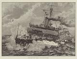"""Battle-Ship of the """"Admiral"""" Class in Heavy Weather"""