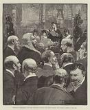 Opening of Parliament, the Lord Chancellor reading the Queen's Speech, the Faithful Commons at the Bar