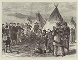 Excitement among North American Indians, Interview with Indians who have left their Reserves without Leave