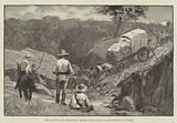 The Mashonaland Expedition, British South Africa Police crossing a Stream