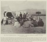 """The Indian Frontier Risings, """"Peace or War?"""" Jirga or Council of Pathans at Thull, on the Frontier"""