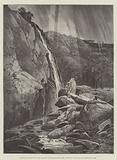 The Falls of Dargle, in the Grounds of Powerscourt House, visited by the Duke and Duchess of York