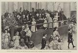 Children's Party at the Mansion House, the Lady Mayoress receiving Purses subscribed for …