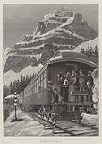 On the Canadian-Pacific Railway, Passengers enjoying the View at Stephen, on the Summit of the Rocky Mountains