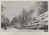 The Recent Blizzard in Canada, a Street in Hamilton after the Blizzard
