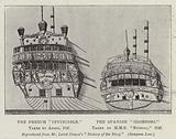 """The French """"Invincible,"""" taken by Anson, 1747 and the Spanish """"Glorioso,"""" taken by HMS """"Russell,"""" 1747"""