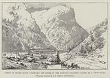 Canon of Grand River, Colorado, the Scene of the Railway Disaster caused by a Snow-Slide