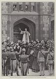 The Queen's Birthday Celebration at Windsor, the Serenade in the Courtyard of the Castle