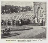 Fete at Stormont Castle, Belfast, Opening Ceremony by the Marchioness of Dufferin