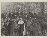 The Queen's Visit to London, the Queen received by the Mayor and Corporation at Temple Stairs …