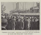 """""""Turned again Home"""", Wounded Canadians leaving Liverpool on Board the Steam-Ship """"Lake Ontario"""""""