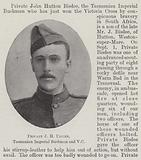 Private JH Bisdee, Tasmanian Imperial Bushman and VC