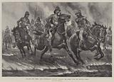 Through Two Fires, Lord Dundonald's Cavalry charging the Enemy over the Burning Veldt