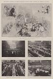The King's Dinner to Half-a-Million London Poor, Scenes at Various Centres