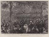 """The Great Non-Party Banquet at Birmingham to wish Mr Chamberlain """"Godspeed"""" on his Tour …"""