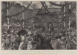 The Imperial Coronation Bazaar at the Royal Botanic Gardens, the Opening Ceremony by Queen Alexandra, 10 July