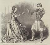 "Miss Cushman as ""Viola,"" and Miss Susan Cushman as ""Olivia,"" in ""Twelfth Night,"" at the Haymarket Theatre"