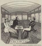 Interior of Smoking Saloon, on the Eastern Counties Railway