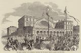 The French President's Visit to Strasburg, Departure from the Railway Terminus, at Paris