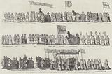 Part of the Funeral Procession of General Monk, Duke of Albemarle, in 1670