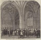 Opening of Parliament, the Norman Porch, Her Majesty proceeding to the Robing-Room …