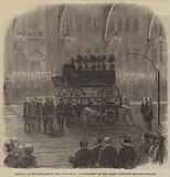Arrival of the Remains of the Marquis of Londonderry at the Great Northern Railway Station