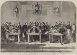 Signing of the Treaty between England and China at Tien-Tsin on 26 June 1858