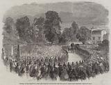 Funeral of Mr Braidwood, the late Chief of the London Fire Brigade, in Abney-Park Cemetery